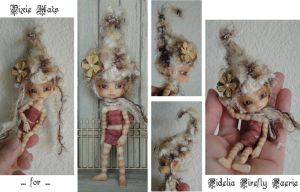 Fidelia Firefly Faerie Pixie Hats by Peggytoes by peggytoes