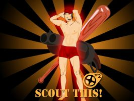 Team Fortress 2 - Scout Pinup by ChaniCthau