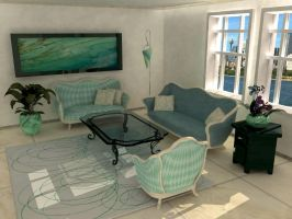 3D Livingroom by AM-Markussen