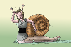 Choose the change #4 - Tsunade snail by oldiblogg