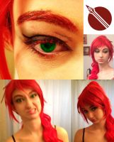 Pyrrha Nikos Hair and Makeup Test by DraconicEye