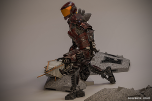 Mech Android Warrior Pose3 3d by cytherina