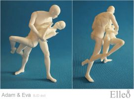 Adam Eve dance 08 by leo3dmodels
