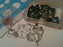 Eraser stamps: Mother's Day by countercanon