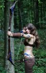 Woad Ashe: Bow-Hunt by MowkyCosplay