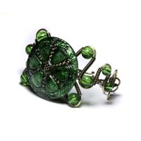 Steampunk Green Bracelet by CatherinetteRings