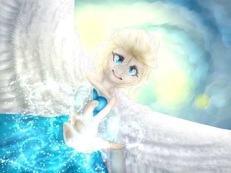 [Frozen] ' I am one with the wind and sky ' by GR4CE-and-T0FFIE