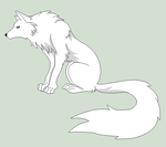 Original Base - Wolf Lineart by Mature-Bases