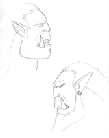 Orc Profile Study by MogNetCentral