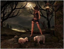 Sheep Herder by Karaliina