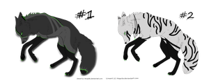 Wolf Adoptables Set 1 |Closed| by Inkk-adopts