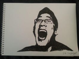 Markiplier Drawing by dantej76