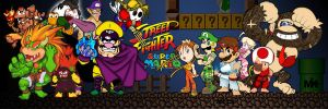 Street Fighter Super Mario by MightyMusc