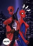 Deadpool And Spiderman Genderbender by KannelArt