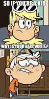 Why is your hair white? by PRStorm