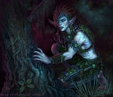 Verdant Witch for Talisman by feliciacano