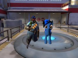 my tf2 sony and ponysona by nicoflare