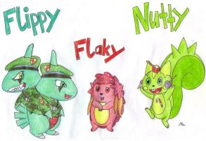 Flippy Flaky Nutty as Pkmn col by MetaLatias5