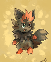 Zorua by LizardonEievui13