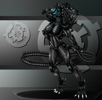 Commission - Xenomorph Jackal by Cryophase