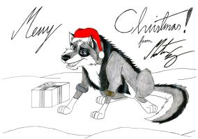 Kitara the wolfhound - Merry Christmas. 2 by MortenEng21