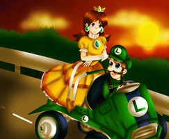 AT: Daisy and Luigi by Lil-Riku