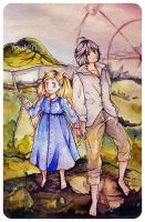 Hagu and Morita by Youlien