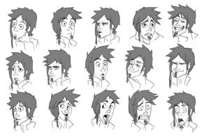 Expression Sheet FINAL by BrookiexMonster