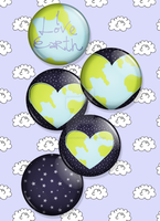 I Love Earth Badge Set by TheScarlettVector