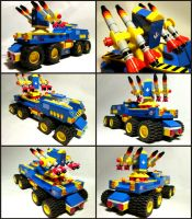 LEGO Blue Missile Truck by Frohickey