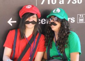 Mario and Luigi cosplay by Shiroyuki9