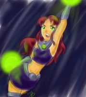Starfire colored sketch by 0XsarachanX0