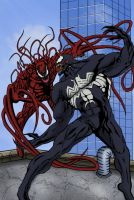 Venom and Carnage by CODE-umb87