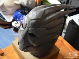Garrus head sculpt by BlackOwlStudio