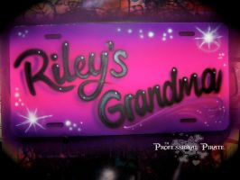 Licence Plate - Riley's Grandm by Galaxys-Most-Wanted