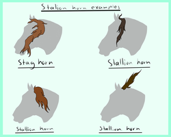 Waldgeist stallion horns by Meme00