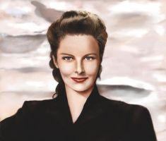Katharine Hepburn Portrait by crushtested