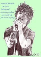 Billie Joe Armstrong Charcoal by CaptainKPeanuts