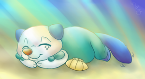 Oshawott snoooze by Dollfins