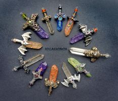 Halloween Edition Crystal Sword Charms by Ideationox