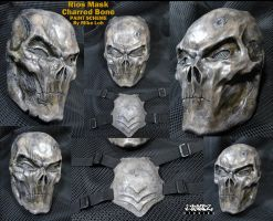 Rios Mask in Charred Bone Details by Uratz-Studios