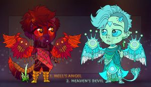 Opposing Angels [Auction: CLOSED] by LuckySquid