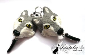 "Earrings ""Wolf's claw"" by Tantalia"