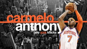Carmelo Anthony New York Knick by IshaanMishra