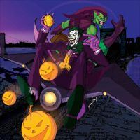 Joyride:Joker and Green Goblin by J-Onix