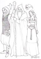 Thor, Odin and Freyja by detvarjohanna