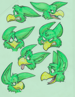 Gamyay Expression reference sheet by MF99K