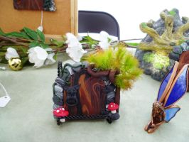 Cute Gremlin Door on table by FlyingFrogCreations