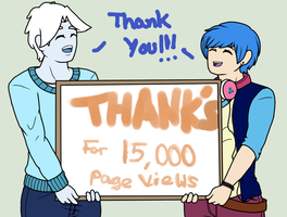 Thanks for 15,000 Page Views by Ask-Snow-Prince