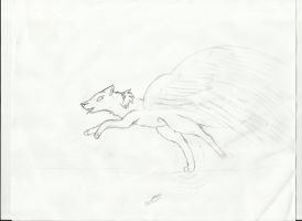 Wolf-i Can Walk On Water I Can Fly-work In Progres by SweetApplecookie